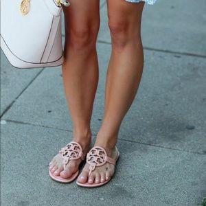 Tory Burch Miller Flip Flop Shell Pink Size 9